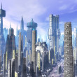 City futuristic landscape — Stock Photo #7225316
