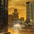 Alien city - Stock Photo