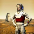 Astronaut on mars — Stock Photo