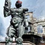 Futuristic soldier — Stock Photo #7228655