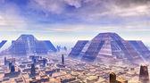 City futuristic landscape — Stock Photo