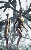 Alien couple — Stock Photo