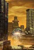 Alien city — Stock Photo