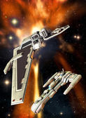 Space fighter — Stock Photo