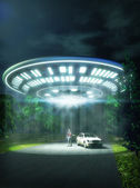 Ufo alien abduction — Stok fotoğraf