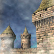 Stock Photo: Fantasy castle background