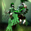 Fantasy green knight — Stock Photo #7236453