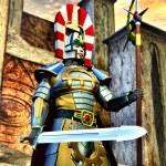 Fantasy knight elfic warrior — Stock Photo