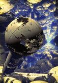 Raum atom — Stockfoto