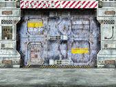 Futuristic spaceship door — Stock Photo