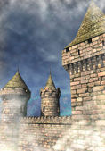 Fantasy castle background — Stock Photo