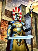 Fantezi knight elfic savaşçı — Stok fotoğraf