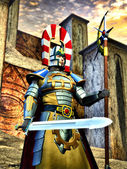 Guerriero elfico di fantasia cavaliere — Foto Stock