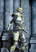 Woman fantasy warrior — Stock Photo