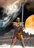 Barbarian hero — Stock Photo