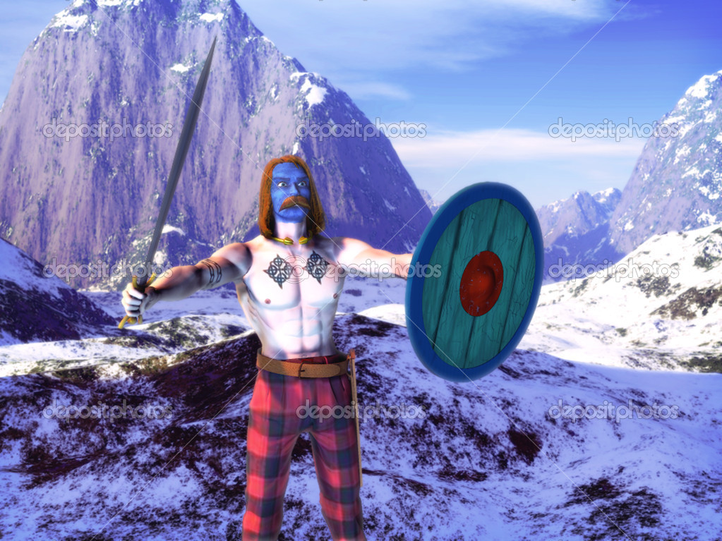 Celtic warrior - Stock Image