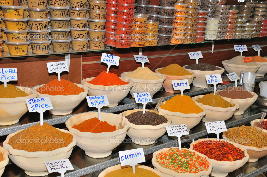 Flavorings at arab market in Jerusalem old city.   — Stock Photo #7181975