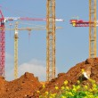 Stock Photo: Lifting cranes.