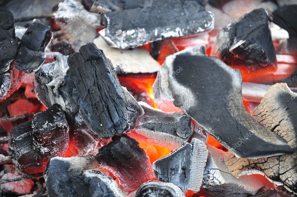 Hot charcoal and the fire of  barbecue. — Stock Photo #7274852