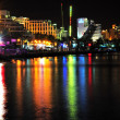 Eilat by night. - Stok fotoğraf