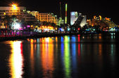 Eilat by night. — Stock Photo