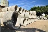 Beton pipes. — Stock Photo