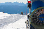 Snowmachine Austrian Alps — Stock Photo