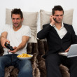 Gamer and Businessman side by side — Stock Photo #7333161