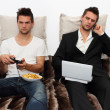 Gamer and Businessman side by side — Stock Photo #7333168