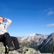 Relax on hiking - hands in hair — Stock Photo