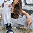 Young woman in hip hop style portrait — Stock Photo