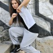 Young woman in hip hop style dance portrait — Stock Photo