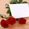 Love message on table — Stock Photo