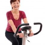 Spinning senior woman — Stock Photo #7172750