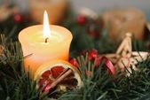 Christmas advent wreath - detail — 图库照片