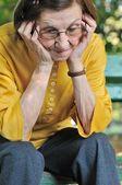 Senior woman worried — Stock Photo