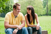 Happy time - young couple together — Stock Photo