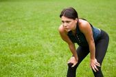 Relax - tired person after jogging — Stock Photo