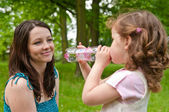 Drinking regime from childhood — Stock Photo