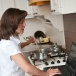 Stock Photo: Bussy woman - work at home