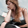 Serious problems - young worried woman — Stock Photo