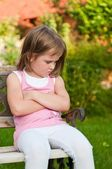 Child portrait - offended — Stock Photo