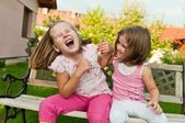 Happy childhood - larking children — Stock Photo