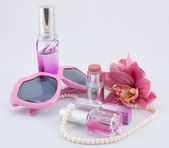 Pink set of cosmetics — Stock Photo