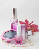 Pink cosmetics set — Stock Photo