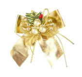 Christmas decoration bow knot — Stock Photo