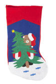 Christmas sock decoration — Stock Photo