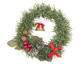 Christmas wreath decoration — Stock Photo