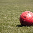 Red FootBall - Stock Photo