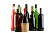 Bottles of wine. — 图库照片